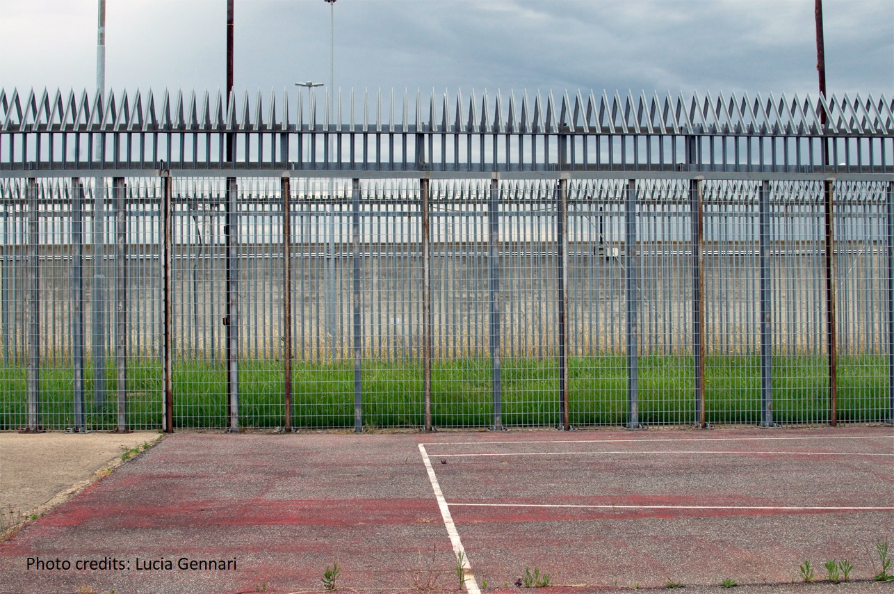 Rome's Ponte Galeria detention centre - the centre's pitch