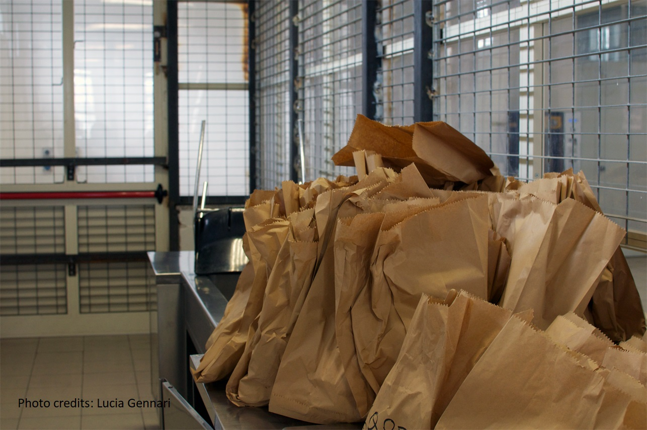 Rome's Ponte Galeria detention centre - detainees' meals