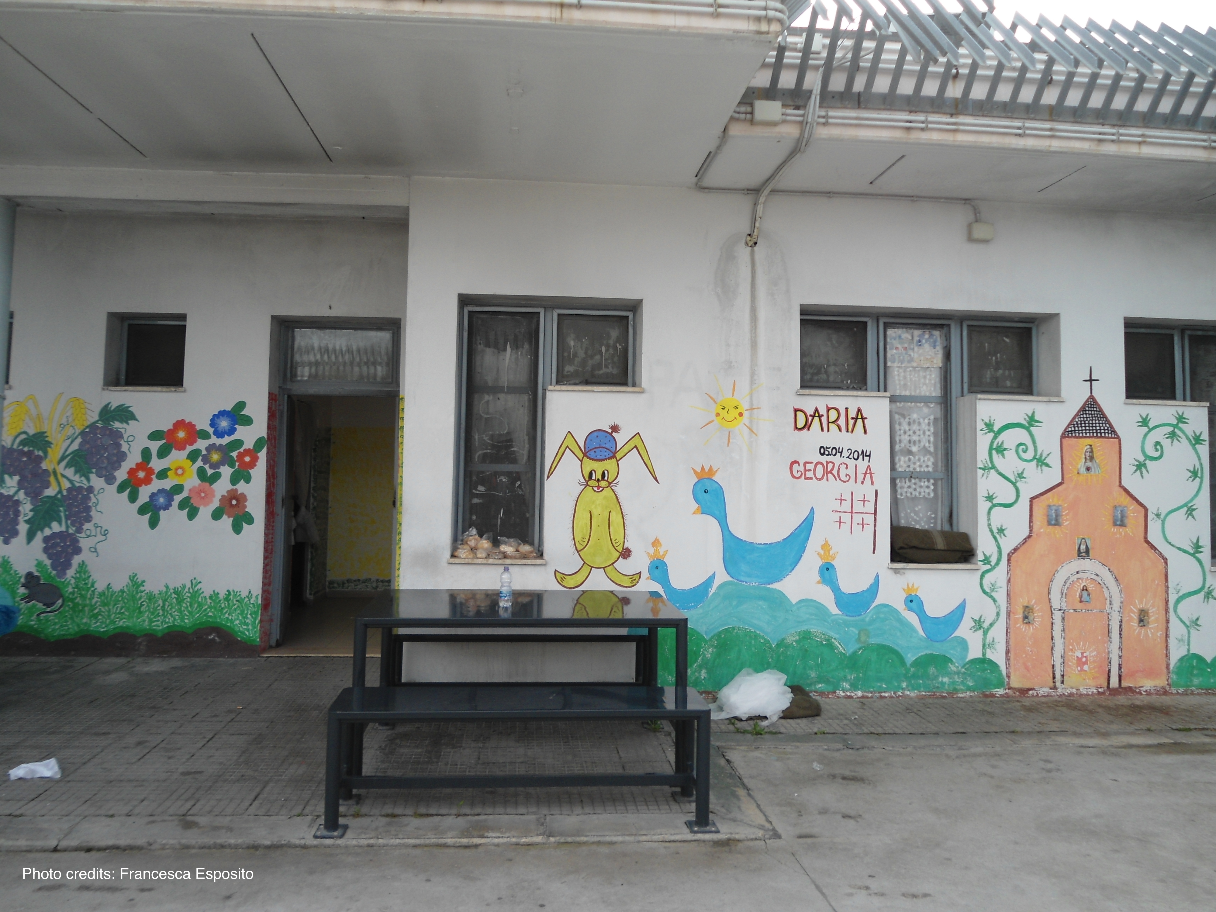 Rome's Ponte Galeria detention centre - Women's living unit